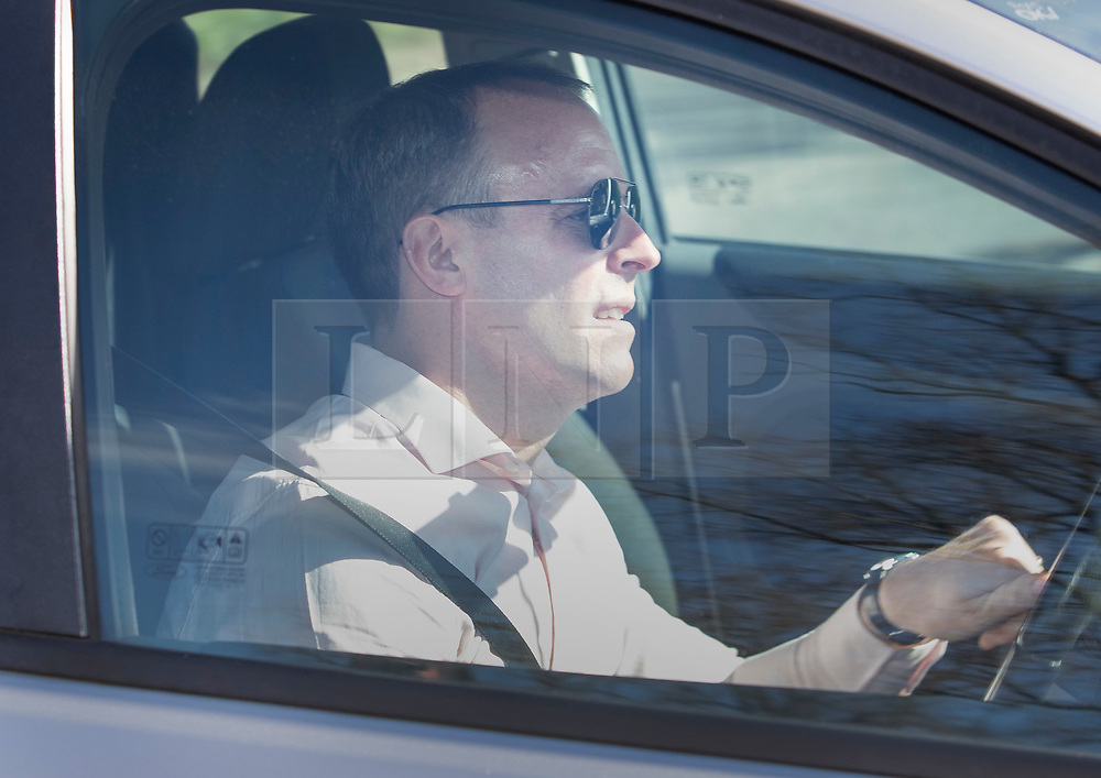 © Licensed to London News Pictures. 24/03/2019. Chequers , UK. Dominic Raab MP  arrives at Chequers for a meeting with the Prime Minister. There have been reports of a cabinet revolt against Prime Minister Theresa May, over her handing of the Brexit negotiations. Photo credit: Peter Macdiarmid/LNP
