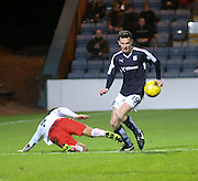 Dundee&rsquo;s Paul McGinn goes past Falkirk&rsquo;s Tom Taiwo  - Dundee v Falkirk, William Hill Scottish Cup Fourth Round at Dens Park <br /> <br />  - &copy; David Young - www.davidyoungphoto.co.uk - email: davidyoungphoto@gmail.com