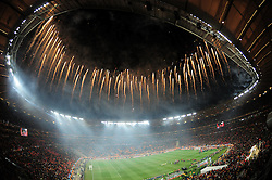 Spain celebrate winning the 2010 FIFA World Cup South Africa Final match between Netherlands and Spain at Soccer City Stadium on July 11, 2010 in Johannesburg, South Africa.