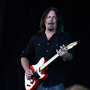 Lead Guitarist Kurt Griffey perfoming with Creedence Clearwater Revisited at the Queenstown Events Centre, Queenstown,  Otago, New Zealand. 5th February 2012. Photo Tim Clayton