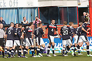 Dundee's Colin Nish is congratulated after opening the scoring - Dundee v Motherwell, Clydesdale Bank Scottish Premier League at Dens Park.. - © David Young - 5 Foundry Place - Monifieth - DD5 4BB - Telephone 07765 252616 - email: davidyoungphoto@gmail.com - web: www.davidyoungphoto.co.uk