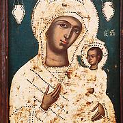 Painting of the virgin expose in the Franciscan monastery | Peinture de la vierge exposée dans le monastère franciscain