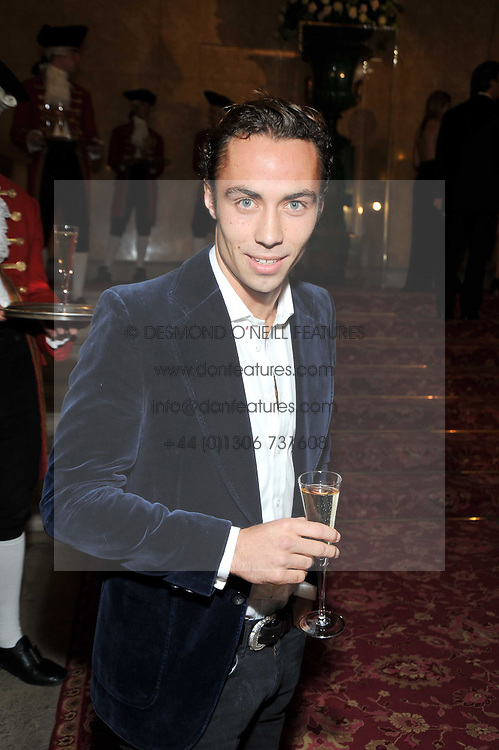 JAMES MIDDLETON at a party to celebrate 300 years of Tatler magazine held at Lancaster House, London on 14th October 2009.