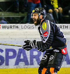 20.12.2015, Messestadion, Dornbirn, AUT, EBEL, Dornbirner Eishockey Club vs HCB Suedtirol, 33. Runde, im Bild Torjubel bei Dornbirner Eishockey Club Nicolas Petrik, (Dornbirner Eishockey Club, #12)// during the Erste Bank Icehockey League 33th round match between Dornbirner Eishockey Club and HCB Suedtirol at the Messestadion in Dornbirn, Austria on 2015/12/20, EXPA Pictures © 2015, PhotoCredit: EXPA/ Peter Rinderer