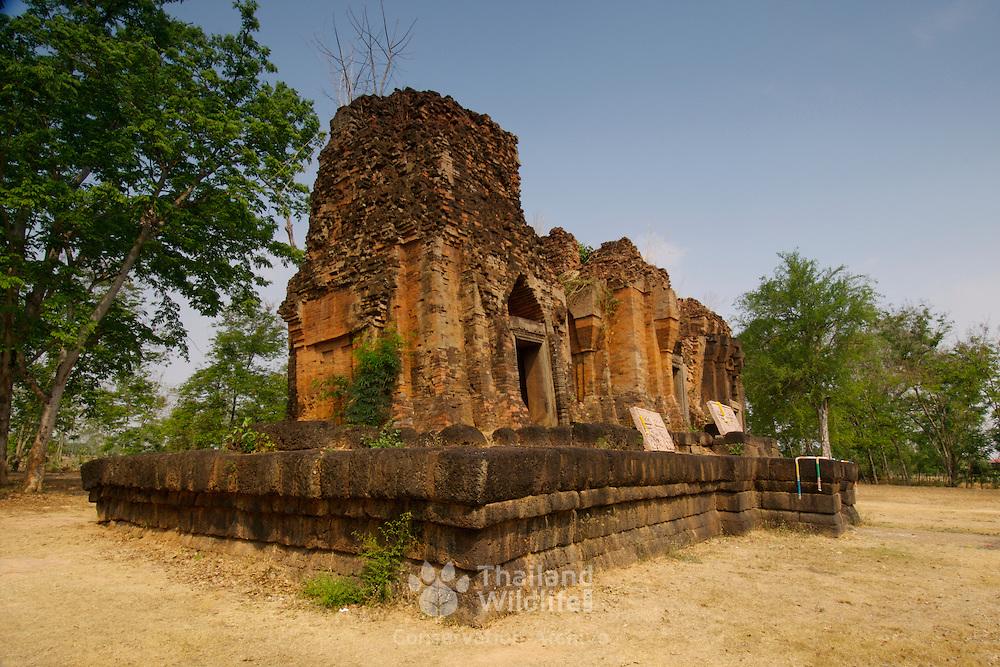 Prasat Prang Ku khmer sanctuary at Sisaket Province in Thailand. The site was built around a thousand year ago.