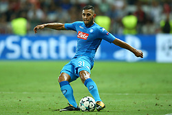 August 22, 2017 - Nice, France - Faouzi Ghoulam of Napoli  during the UEFA Champions League Qualifying Play-Offs round, second leg match, between OGC Nice and SSC Napoli at Allianz Riviera Stadium on August 22, 2017 in Nice, France. (Credit Image: © Matteo Ciambelli/NurPhoto via ZUMA Press)