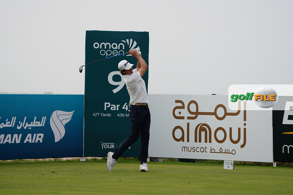 Pedro Figueiredo (POR) on the 9th during Round 1 of the Oman Open 2020 at the Al Mouj Golf Club, Muscat, Oman . 27/02/2020<br /> Picture: Golffile | Thos Caffrey<br /> <br /> <br /> All photo usage must carry mandatory copyright credit (© Golffile | Thos Caffrey)