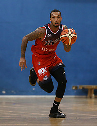 Gentry Thomas of Bristol Flyers drives forward with the ball - Photo mandatory by-line: Arron Gent/JMP - 28/09/2019 - BASKETBALL - Crystal Palace National Sports Centre - London, England - London City Royals v Bristol Flyers - British Basketball League Cup