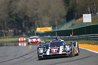 Timo Bernhard (DEU) / Mark Webber (AUS) / Brendon Hartley (NZL) #1 Porsche Team Porsche 919 Hybrid, Free Practice 1  as part of the WEC 6 Hours of Spa-Francorchamps 2016 at Spa-Francorchamps, Stavelot, , Belgium . May 05 2016. World Copyright Peter Taylor/PSP.  Copy of publication required for printed pictures.  Every used picture is fee-liable. http://archive.petertaylor-photographic.co.uk