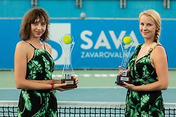 Trophies prior to the Final match at Day 10 of ATP Challenger Zavarovalnica Sava Slovenia Open 2019, on August 18, 2019 in Sports centre, Portoroz/Portorose, Slovenia. Photo by Vid Ponikvar / Sportida