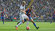 James McArthur jockies Darren Fletcher during the Barclays Premier League match between Crystal Palace and West Bromwich Albion at Selhurst Park, London, England on 3 October 2015. Photo by Michael Hulf.