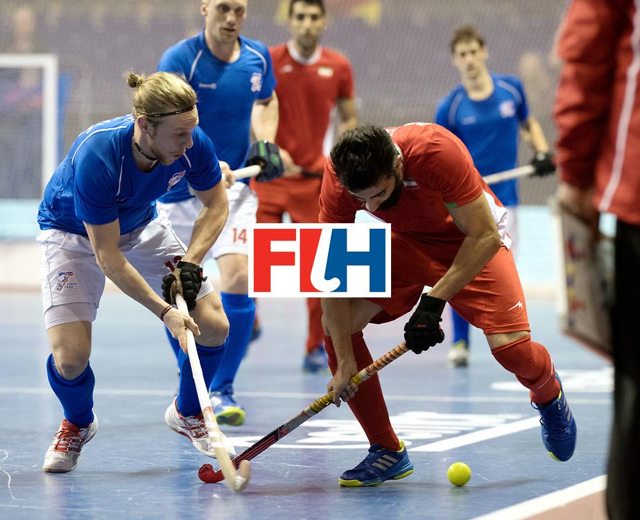 BERLIN - Indoor Hockey World Cup<br /> Quarterfinal 1: Iran - Czech Republic<br /> foto: BEIRANVAND Behdad.<br /> WORLDSPORTPICS COPYRIGHT FRANK UIJLENBROEK
