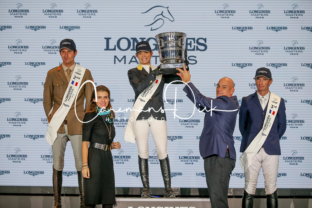 Podium Grand Prix, Alexander Edwina, Zorzi Alberto, Lynch Denis<br /> LONGINES Masters - Paris 2018<br /> © Hippo Foto - Julien Counet<br /> 02/12/2018