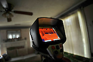 Greenhome, an energy audit compnay, completes an energy audit for a Habitat for Humanity Critical Repair Home.  This is a Thermal Infrared camera which measures temperature on the home surfaces so as to detect air leaks and poor insulation.