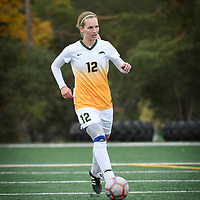 2nd year defender Lauren Petras (12) of the Regina Cougars during the Women's Soccer Homeopener on September 16 at U of R Field. Credit: Arthur Ward/Arthur Images