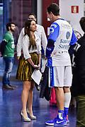 Giulia Cicchine, Giacomo Devecchi<br /> Banco di Sardegna Dinamo Sassari - AX Armani Exchange Olimpia Milano<br /> Legabasket LBA Serie A Postemobile 2018-2019<br /> Sassari, 16/12/2018<br /> Foto L.Canu / Ciamillo-Castoria