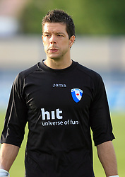 Goalkeeper of Gorica Mitja Pirih at 32th Round of Slovenian First League football match between NK Domzale and NK Hit Gorica in Sports park Domzale, on May 6, 2009, in Domzale, Slovenia. Gorica won 2:0. (Photo by Vid Ponikvar / Sportida)