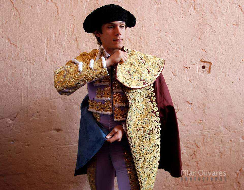 French bullfighter Sebastian Castella prepares for a bullfight at Peru's historic Acho bullfighting stadium in Lima November 26, 2006.