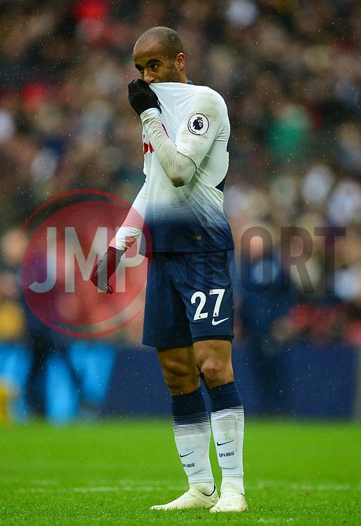 Lucas of Tottenham Hotspur - Mandatory by-line: Alex James/JMP - 06/10/2018 - FOOTBALL - Wembley Stadium - London, England - Tottenham Hotspur v Cardiff City - Premier League