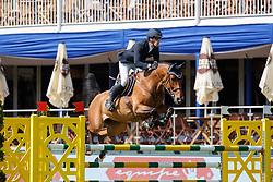 VON ECKERMANN Henrik (SWE), Que Bueno de Hus Z<br /> Hamburg - 89. Deutsches Spring- und Dressur Derby 2018<br /> Equiline Youngster Cup<br /> 1. Qualifikation für 7+8j Pferde<br /> 09.Mai 2018<br /> www.sportfotos-lafrentz.de/Stefan Lafrentz