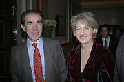 Earl and Countess Alexander of Tunis, Charles Finch and Weidenfeld and Nicolson host a party to celebrate the publication of 'Dancing Into Battle' by Nick Foulkes. The Westbury Hotel, Conduit St. London. 14 December 2006. ONE TIME USE ONLY - DO NOT ARCHIVE  © Copyright Photograph by Dafydd Jones 248 CLAPHAM PARK RD. LONDON SW90PZ.  Tel 020 7733 0108 www.dafjones.com