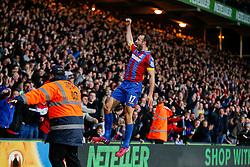 Glenn Murray of Crystal Palace celebrates scoring a goal to make it 1-0 - Photo mandatory by-line: Rogan Thomson/JMP - 07966 386802 - 06/04/2015 - SPORT - FOOTBALL - London, England - Selhurst Park - Crystal Palace v Manchester City - Barclays Premier League.