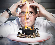 Heston Blumenthal in his lab in Bray next to the Fat Duck.