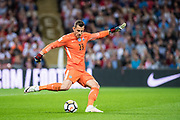 Slovakia (23)GK  Martin DUBRAVKA during the FIFA World Cup Qualifier match between England and Slovakia at Wembley Stadium, London, England on 4 September 2017. Photo by Sebastian Frej.