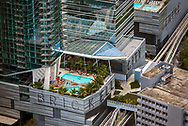 Looking down on Brickell City Center.