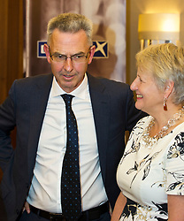 Pictured: Chris Young and Maggie Cunningham<br /> <br /> At today's launching of MG ALBA's annual report, Maggie Cunningham, chair of MG ALBA, and Chris Young, Producer of the Inbetweeners it was announced that BBC Alba have agreed a four-year production deal for Bannan<br /> <br /> New multi-year deal to boost production capability and marks investment in creative Gaelic skills.  Funded by MG ALBA, the Gaelic Media Service - one of the partners behind BBC ALBA – the new contract with Young Films secures the future of the channel's drama series, Bannan and marks a significant investment in drama for the channel. <br /> <br /> Filmed on the Isle of Skye, and produced by  Young, 23 episodes of Bannan have been produced since 2014, with five of those due to be aired on BBC ALBA in the autumn. The success of Bannan has led to an international deal being signed for the series with DRG, one of the leading independent distributors of programmes in the world. The new contract, running until 2021, will lead to at least 20 episodes being produced for the channel. The announcement was made prior to a screening of Bannan at the Edinburgh International Film Festival, and coincided with the launch of MG ALBA's annual report for 2016/17. <br />  <br /> <br /> Ger Harley | EEm 25 June 2017