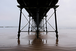 © Licensed to London News Pictures. <br /> 27/03/20167. <br /> Saltburn by the Sea, UK.  <br /> <br /> Fog and cloud surround the old Victorian pier at Saltburn by the Sea.<br /> <br /> Photo credit: Ian Forsyth/LNP