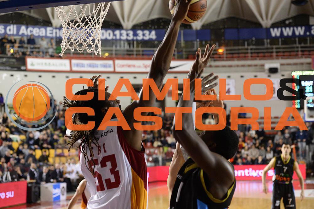 DESCRIZIONE : Roma Lega A 2014-15 Acea Virtus Roma Orlandina Basket<br /> GIOCATORE : ndudi ebi<br /> CATEGORIA : rimbalzo<br /> SQUADRA : Acea Virtus Roma Orlandina Basket<br /> EVENTO : Campionato Lega Serie A 2014-2015<br /> GARA : Acea Virtus Roma Orlandina Basket<br /> DATA : 08.02.2015<br /> SPORT : Pallacanestro <br /> AUTORE : Agenzia Ciamillo-Castoria/M.Greco<br /> Galleria : Lega Basket A 2014-2015 <br /> Fotonotizia : Roma Lega A 2014-15 Acea Virtus Roma Orlandina Basket