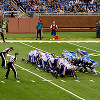 Detroit Lions Minnesota Vikings Football Game at Ford Field in Detroit, Michigan<br />