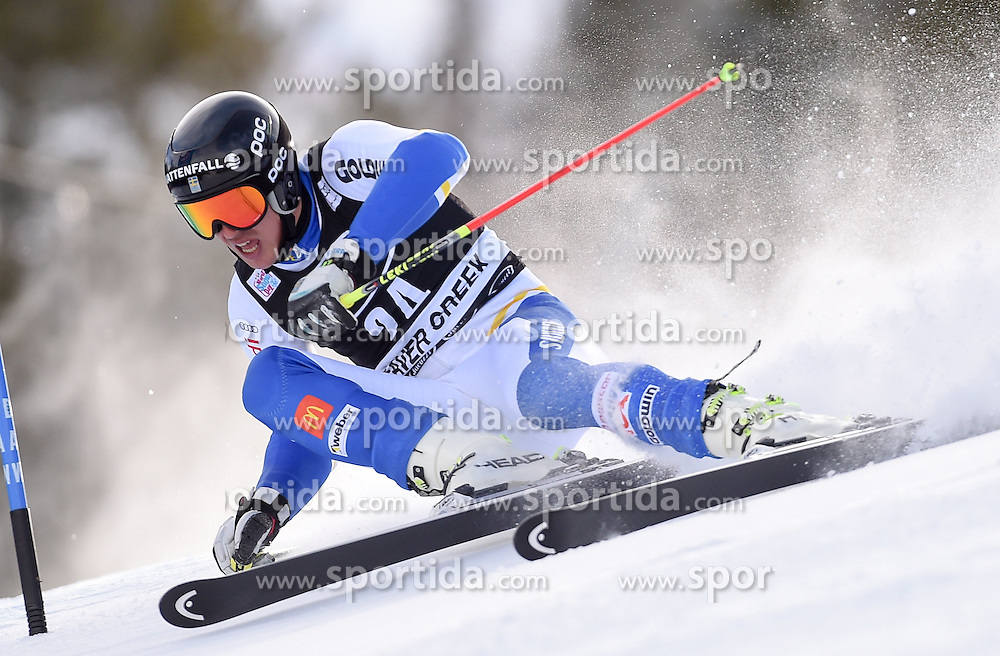 06.12.2015, Birds of Prey Course, Beaver Creek, USA, FIS Weltcup Ski Alpin, Beaver Creek, Riesenslalom, Herren, 1. Lauf, im Bild Andre Myhrer (SWE) // Andre Myhrer of Sweden during the first run of mens Giant Slalom of the Beaver Creek FIS Ski Alpine World Cup at the Birds of Prey Course in Beaver Creek, United States on 2015/12/06. EXPA Pictures © 2015, PhotoCredit: EXPA/ Erich Spiess