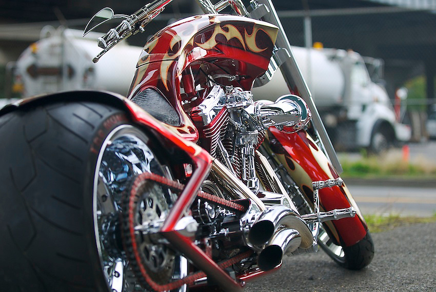 Custom bike built by Bryan Travis of Portland, Oregon.