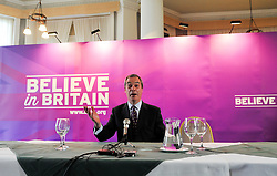 © Licensed to London News Pictures. 24/03/2015. Folkstone, UK. NIGEL FARAGE.  Harriet Yeo has been named as Ukip's new Folkestone and Hythe general election candidate following the expulsion of Janice Atkinson over allegations of an inflated expenses claim.. Photo credit : Stephen Simpson/LNP