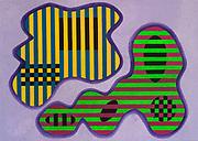 Mike Harridge. Ello Dermis.<br /> 39&quot; xx 55&quot;<br /> Acrylic on Canvas.<br /> 120,000/-