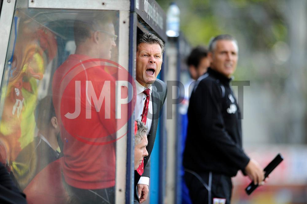 Bristol City manager, Steve Cotterill - Photo mandatory by-line: Dougie Allward/JMP - Mobile: 07966 386802 23/08/2014 - SPORT - FOOTBALL - Manchester - Spotland Stadium - Rochdale AFC v Bristol City - Sky Bet League One