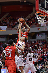 22 February 2017:  DJ Clayton(2) reaches for the basket over the opposition during a College MVC (Missouri Valley conference) mens basketball game between the Southern Illinois Salukis and Illinois State Redbirds in  Redbird Arena, Normal IL