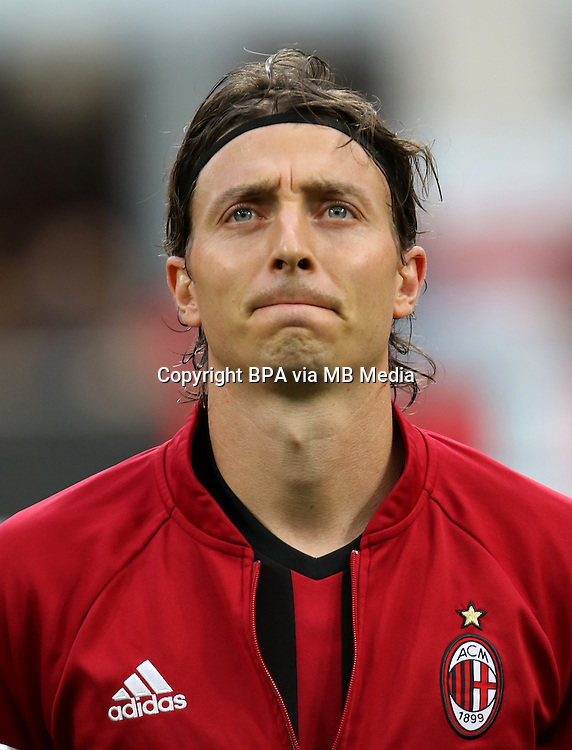 Italian League Serie A -2016-2017 / <br /> ( AC Milan  ) - <br /> Riccardo Montolivo