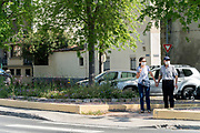 couple holding hands during Covid 19 crisis France Limoux April 2020