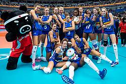 19-10-2018 JPN: Semi Final World Championship Volleyball Women day 18, Yokohama<br /> China - Italy / Team Italy goes to the final