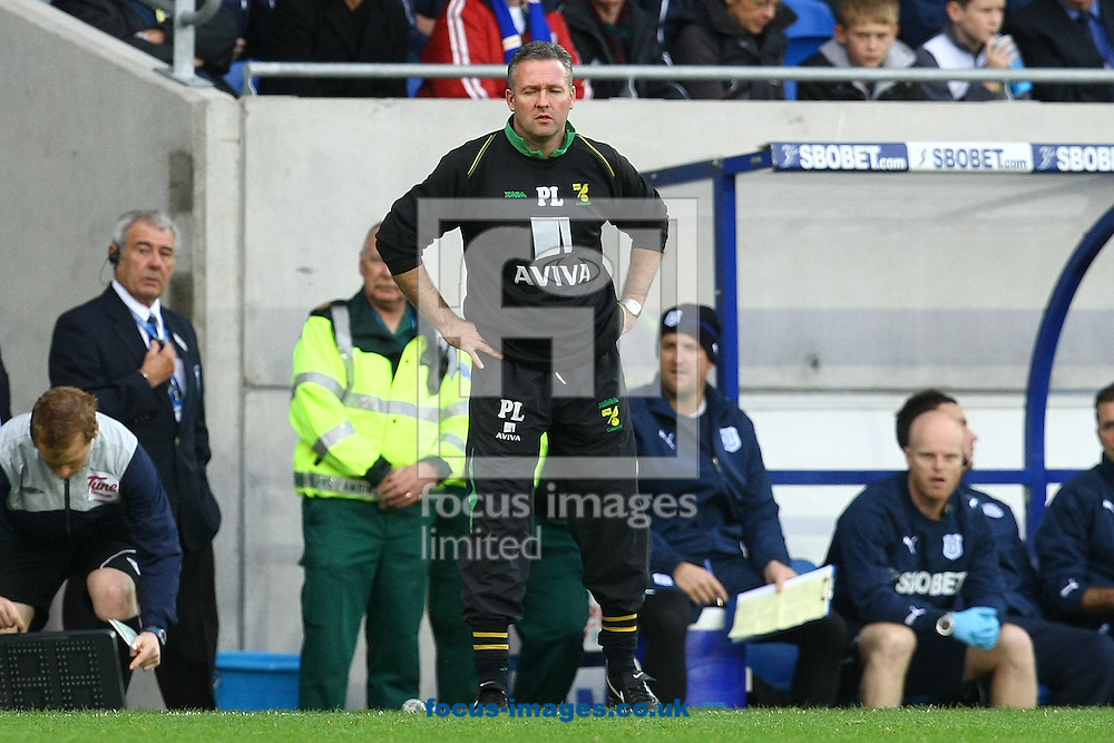 Cardiff - Saturday October 30th, 2010: Norwich Manager Paul Lambert during the Npower Championship match at The Cardiff City Stadium, Cardiff. (Pic by Paul Chesterton/Focus Images)