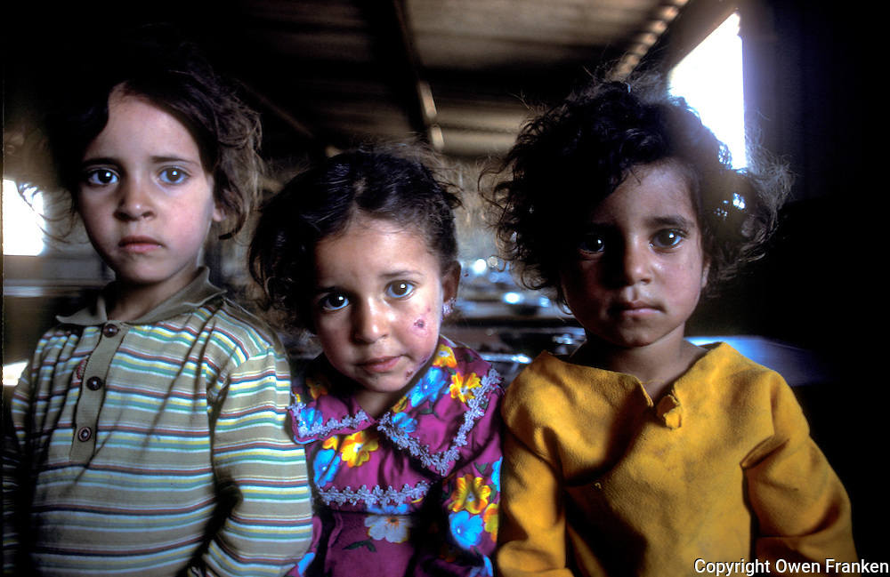 Palestinian refugee kids in a camp in Jordan, in a feeding program - photographed for UNRWA <br />