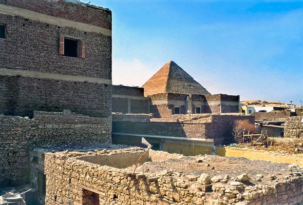 Egypte, Gizeh, 20-10-1990Mensen. Wonen.Foto: Flip Franssen