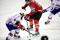 Tommy Jakobsen of Norway and Rick Nash of Canada  at play-off round quarterfinals ice-hockey game Norway vs Canada at IIHF WC 2008 in Halifax,  on May 14, 2008 in Metro Center, Halifax, Nova Scotia,Canada. (Photo by Vid Ponikvar / Sportal Images)