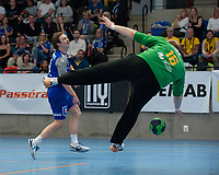 2019-04-23 | Jönköping, Sweden: IF Hallby HK (3) Marcus Erlandsson during the qualifying game 4 to Swedish Handball League between IF Hallby HK and HIF Karlskrona at Idrottshuset ( Photo by: Marcus Vilson | Swe Press Photo )<br /> <br /> Keywords: Idrottshuset, Jönköping, Handball, Qualifying Game 4, IF Hallby HK, HIF Karlskrona, Sport