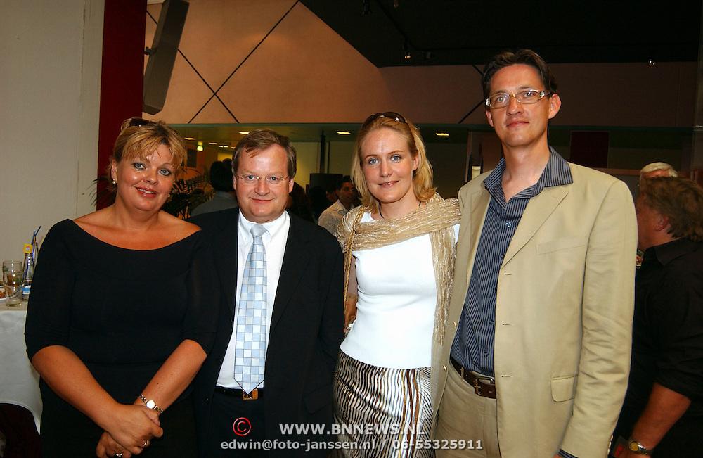 Miss India Holland 2003, Hilbrand Nawijn en partner Corrie ten Bosch, Joost Eerdmands en vriendin Femke