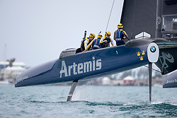 Artemis Racing getting ready for a light wind practice day on 1st of June, 2017, Bermuda Light wind practice day on 1st of June, 2017, Bermuda