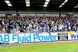Bristol Rovers' fans.- Photo mandatory by-line: Nizaam Jones /JMP - Mobile: 07966 386802 - 03/05/2015 - SPORT - Football - Bristol - Memorial Stadium - Bristol Rovers v Forest Green Rovers - Vanarama Football Conference.